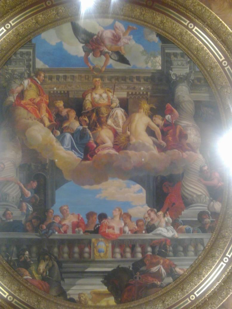 America road trip day 19 venetian vegas ceiling