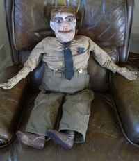 Soldier ventriloquist doll
